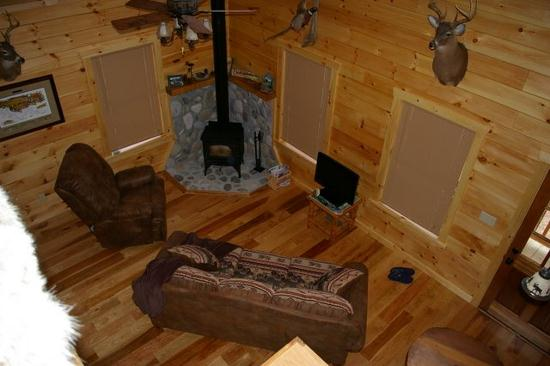 Rustic Hickory In A Log Cabin